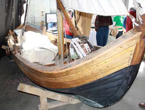 Traditional wooden boat builders warehouse